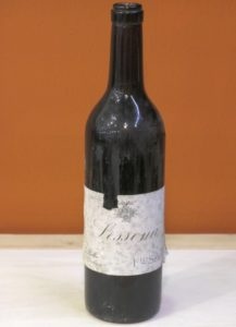A bottle of 1921 Lessona Sella, tasted during a Master Class at Vinitaly 2017